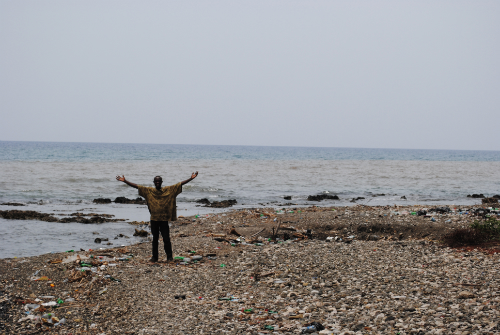Haiti man on beach